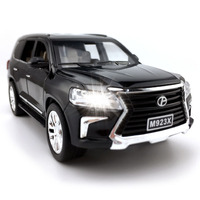 1:24 Alloy Diecast Car Model for Lexus LX570 Toy Vehicle Excellent Quality For Collection Pull Back Car with Sound&Light