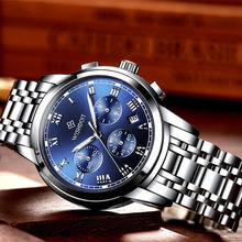 2018 New Watches Men Luxury Brand WISHDOIT Chronograph Sports Full Steel Quartz Mens Watch Relogio Masculino