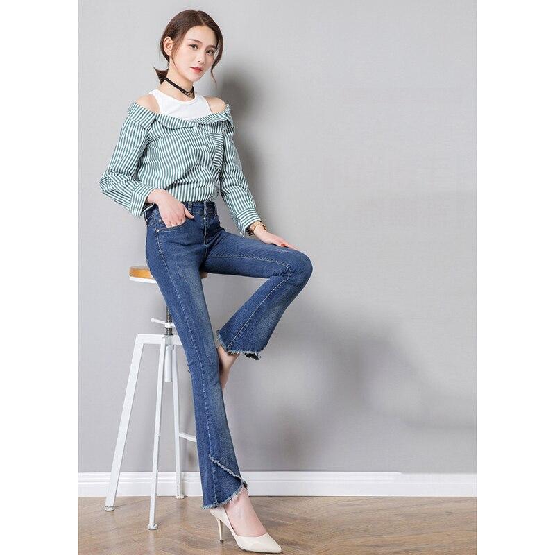 Pantalón Tramo Las Para Cremallera Nuevo De Vaqueros Pantalones Skinny Alta Con Mujer Borla Casual Mujeres Cintura 2019 Jeans PO57xwqqp