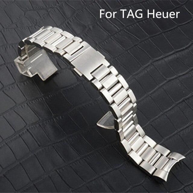 ff121b4b134 TJP Original 22 MM Homens Completo Relógio de Aço Inoxidável Cinta  Wacthband Para Relógio TAG Heuer