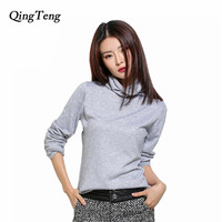 Black Turtleneck Sweater Women Pullover Women Knitted Sweater 2016 Autumn Winter Cashmere Sweater Women Fashion Sueter