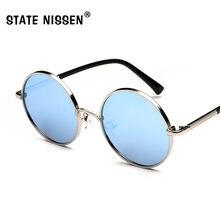 db2d901e77 STATE NISSEN New Women Retro Round Alloy Frame Sunglasses Brand Designer  Men Round Sun Glasses Polarizes oculos de sol