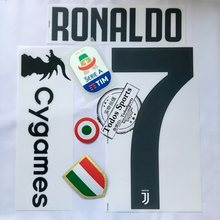 Juventus away third RONALDO 7 nameset +back sponsor RONALDO 7 Serie A patch+red coppa Italia Circle + chest Scudetto patches(China)