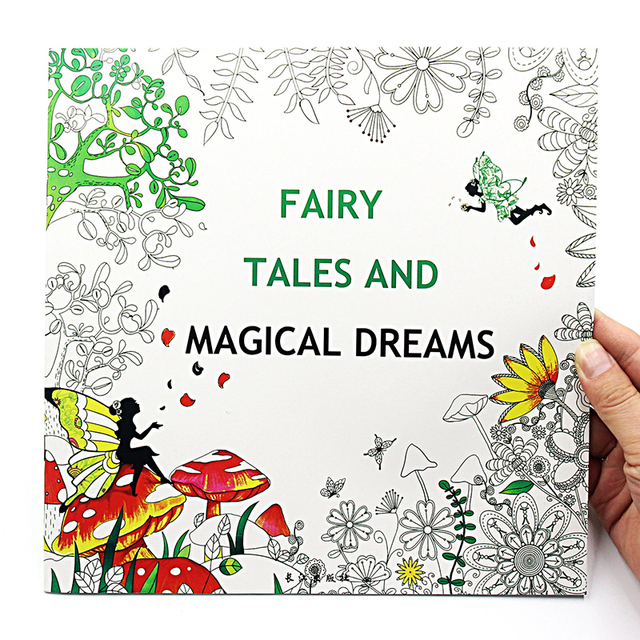 1 pcs new 24 pages 2525cm english coloring books for kids and adults painting