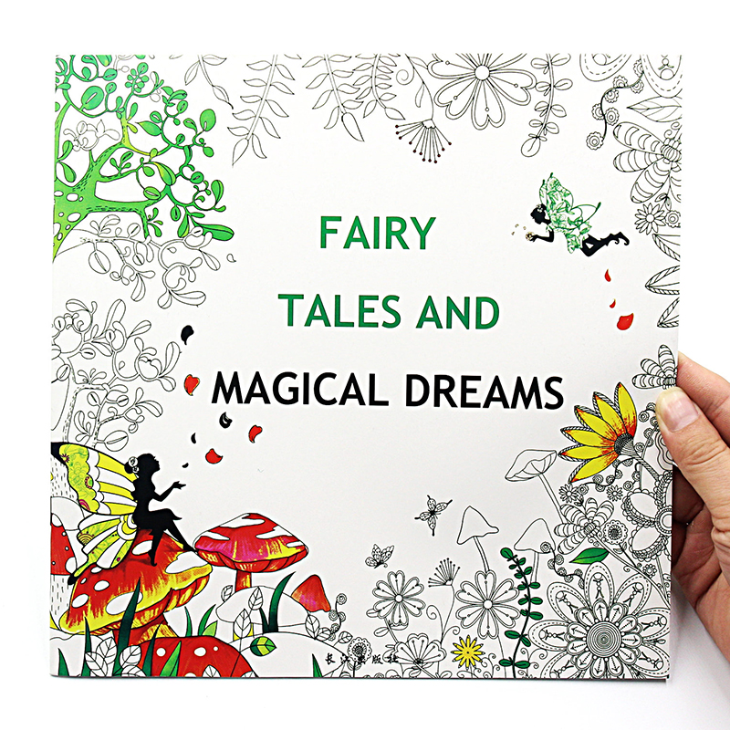 1 pcs new 24 pages 2525cm english coloring books for kids and adults painting - Kids Painting Book