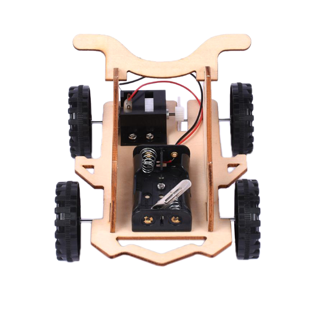 Wooden DIY Educational Science Go-kart Car Toy Experiment Kits for Kids  Children Students Teacher Teaching Aids