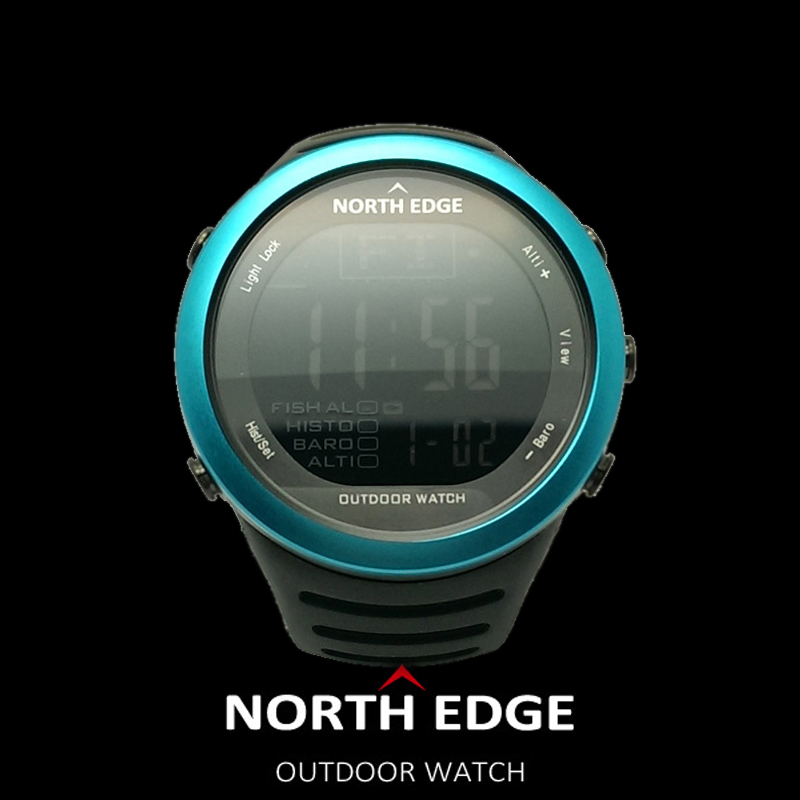 NORTH EDGE Fishing Altimeter Barometer Thermometer Altitude Men Smart Digital Watches Sports Climbing Hiking Clock Montre