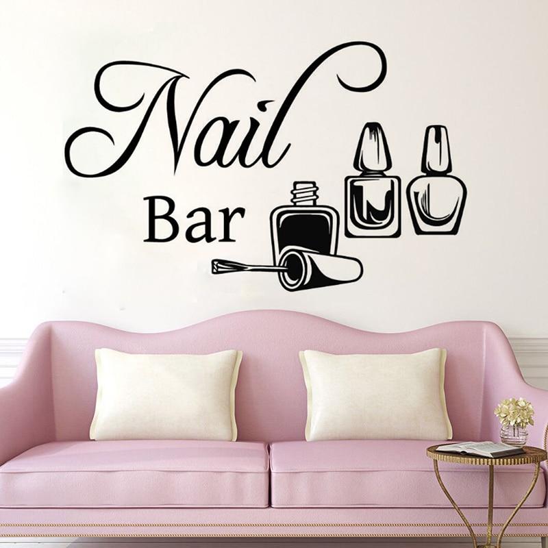 yoyoyu nail bar remove vinyl wall sticker beatuy salon manicure