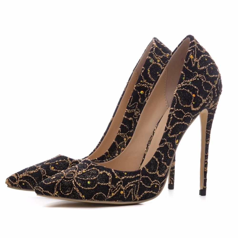 golden Dames Printemps Black On Sexy Talons 2018 Style Red Femme Parti Pompes Bureau Arden Automne wine Haute Nouveau Stylets Chaussures Slip Cm 12 Furtado HgxcwF