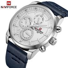 นาฬิกาผู้ชาย NAVIFORCE แบรนด์หรูกันน้ำ 24 ชั่วโมงวันที่นาฬิกาควอตซ์ชายแฟชั่นหนังกีฬานาฬิกาข้อมือนาฬิกาผู้ชาย