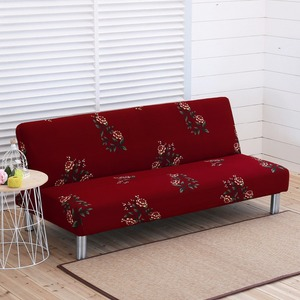 Image 4 - Printed Elastic Sofa Cover All inclusive Tight Wrap Slipcover Couch Couch Sofa Towel Without Armrest Folding Sofa Bed