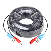 ZOSI 100FT / 30M BNC Video DC Power Security Cable for CCTV Surveillance Camera DVR System