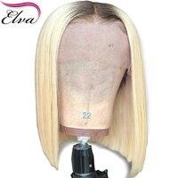 Короткие человеческие волосы парики два тона цвет Бразильский Glueless парик фронта шнурка для черных женщин #4/613 прямые волосы Реми боб парик