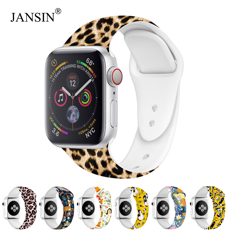 Soft Silicone Strap For Apple Watch Series 5 4 3 2 1 IWatch Band Apple Watch Bracelet 38mm 42mm 40mm 44mm Sport Band