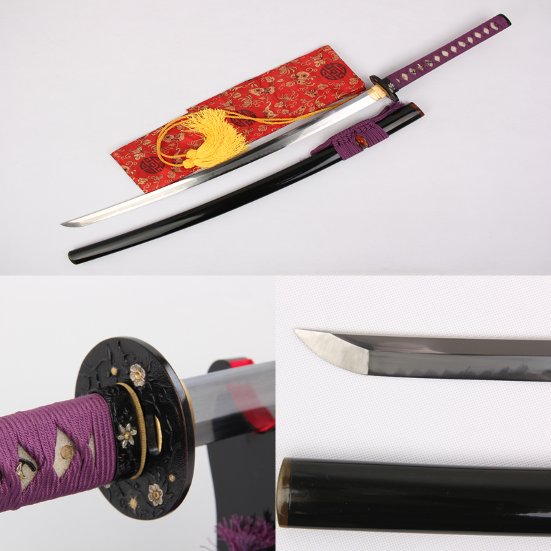Free Shipping Top Quality 1095 Carbon Steel Full Handmade Clay Tempered Samurai font b Sword b