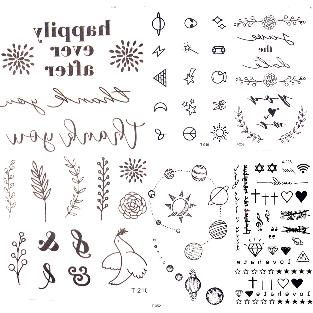 25 Desgin Cool Letter Temporary Leaves Tattoo Branch Flower Waterproof Tattoo Women Body Arm Art Finger Tatto Stickers Men Hand