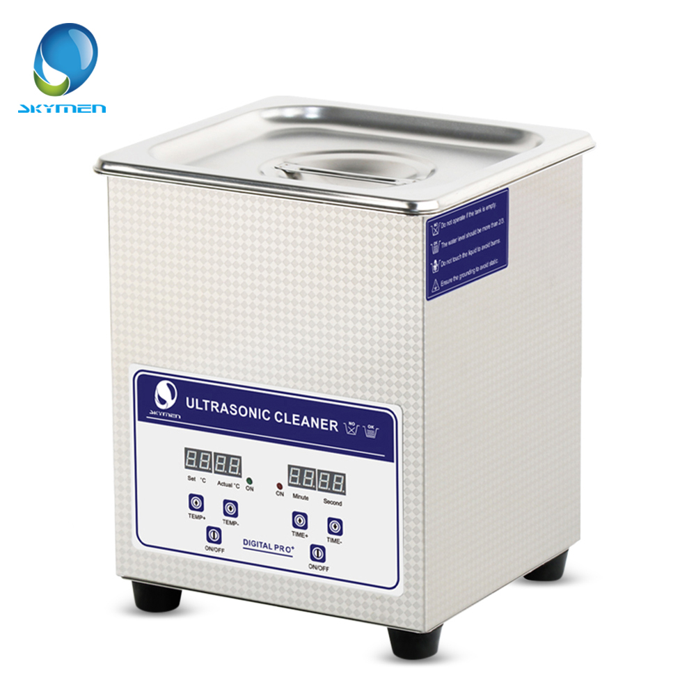 SKYMEN Digital 2L Ultrasonic Cleaner Stainless Steel Sterilizing Nail Tools With Degas Heating Timer Bath 60W Ultrasound Washer wre 65p1 bss