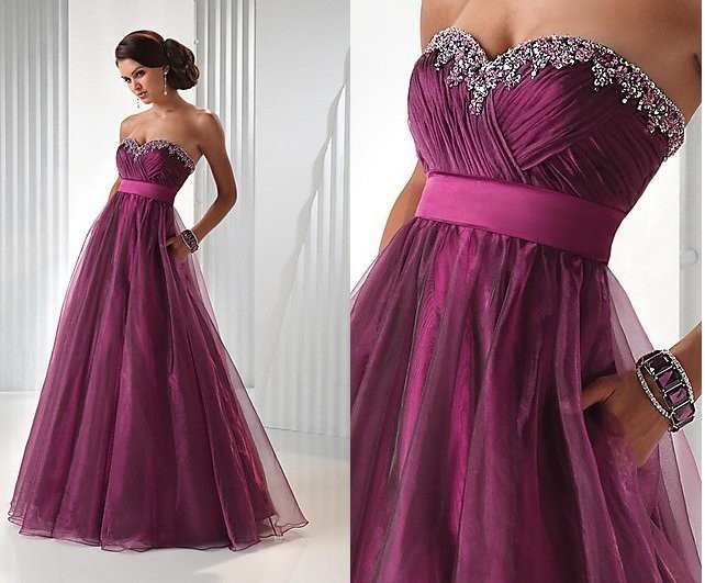 Cheap Hot Sale A Line With Lace Up Beading Formal Evening