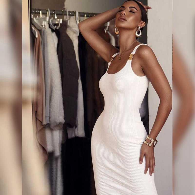 Ocstrade livraison directe nouveau 2019 vente chaude rayonne XL Bandage robe Sexy femmes blanc moulante robe femmes d'été robe de soirée
