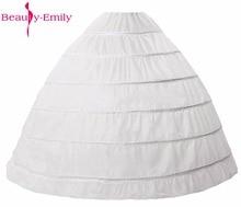 2017 New Black/White/Green Petticoats for Wedding Dress Ball Gowns Crinoline underskirt saiote de noiva Six Hoop