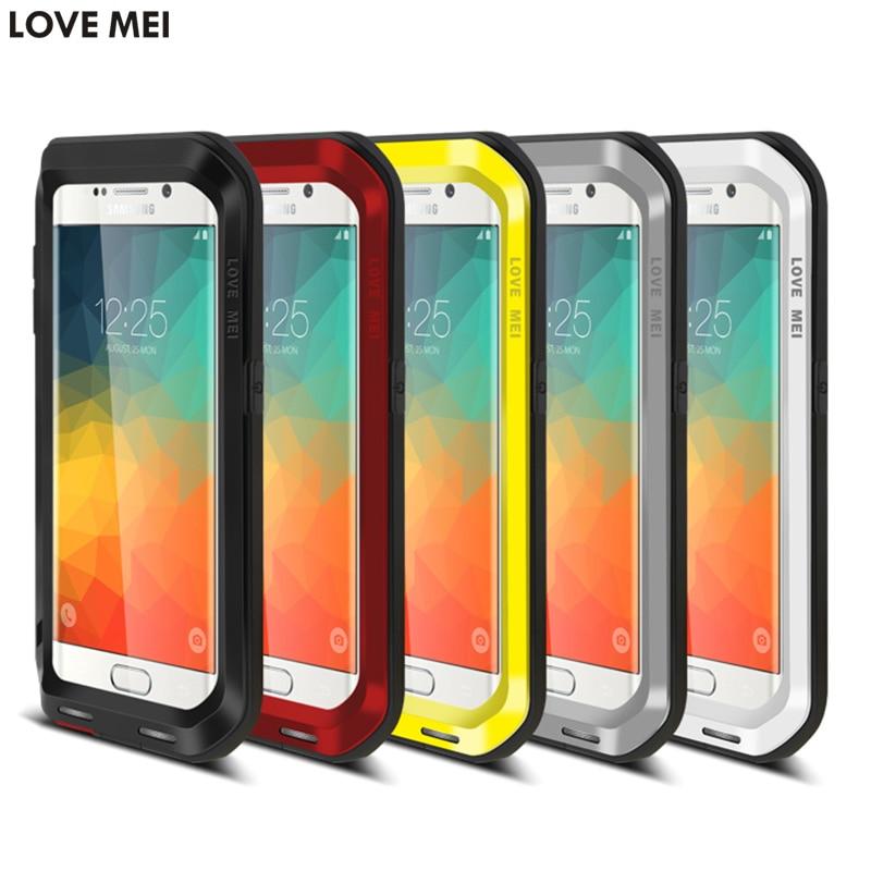 Цена за Оригинальный бренд Любовь Мэй металла алюминиевая мощный чехол для Samsung Galaxy S6 Edge Plus ударопрочный телефон чехлы для S6 край +