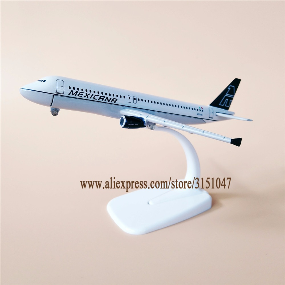 16cm Mexicana Airlines Airbus A320 Metal Display Aircraft Plane Model Mexico