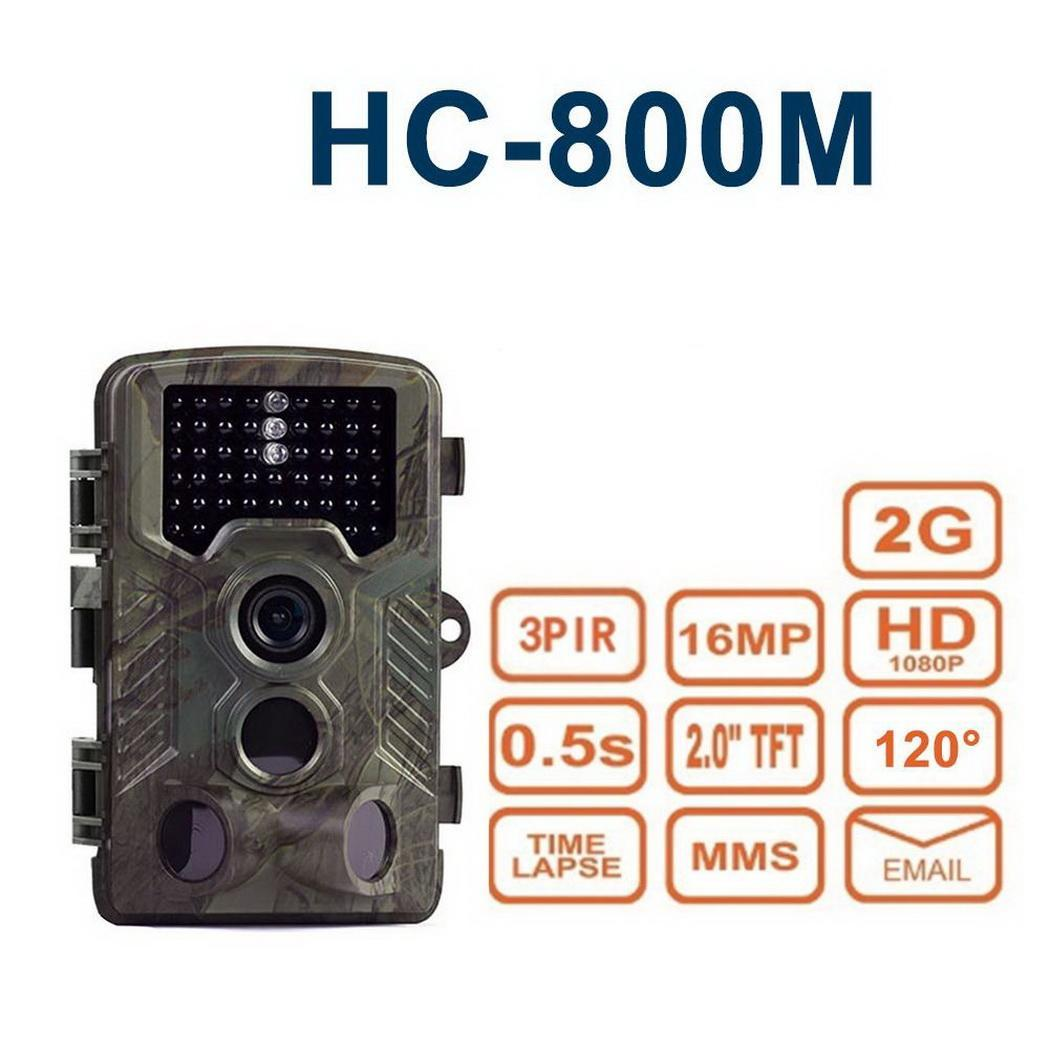 HC 800M Hunting Trail Camera Wireless Waterproof Wild Hunting Infrared Night Vision Camera GSM GPRS Digital Traps Camera in Hunting Cameras from Sports Entertainment