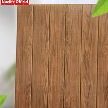 10pcs 3d wood pattern wall stickers kids room living bedroom shop TV background PE foam soft sticker