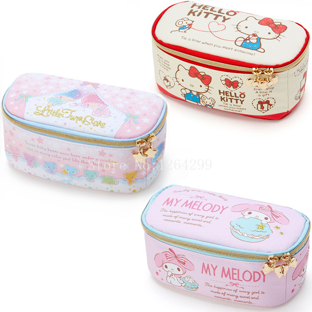 4e116187d Detail Feedback Questions about New Fashion Hello Kitty Hello Kitty My  Melody Little Twin Stars Girls Kids Canvas Cosmetic Bags Cases For Children  on ...