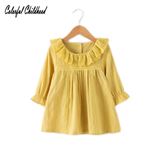 Kids Girls Princess Dresses Infant Lace Dress Newborn Girls Clothes Baby Cotton Long Sleeve Clothing 0-3 Years