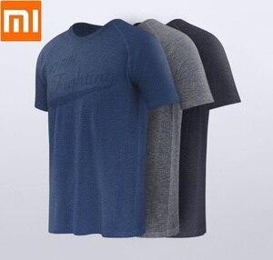 Image 1 - Xiaomi 90 uomo che assorbe lumidità T shirt monopezzo tessitura ioni dargento antibatterico manica corta asciugatura rapida fitness da corsa
