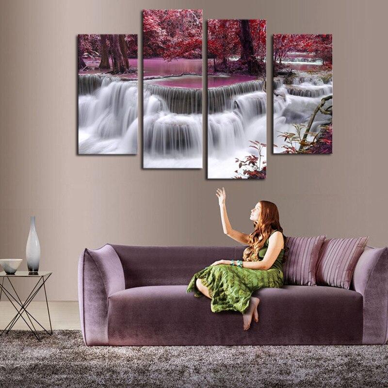 4pcs Орманда сарқырамасы Жоғары сапалы - Үйдің декоры - фото 3