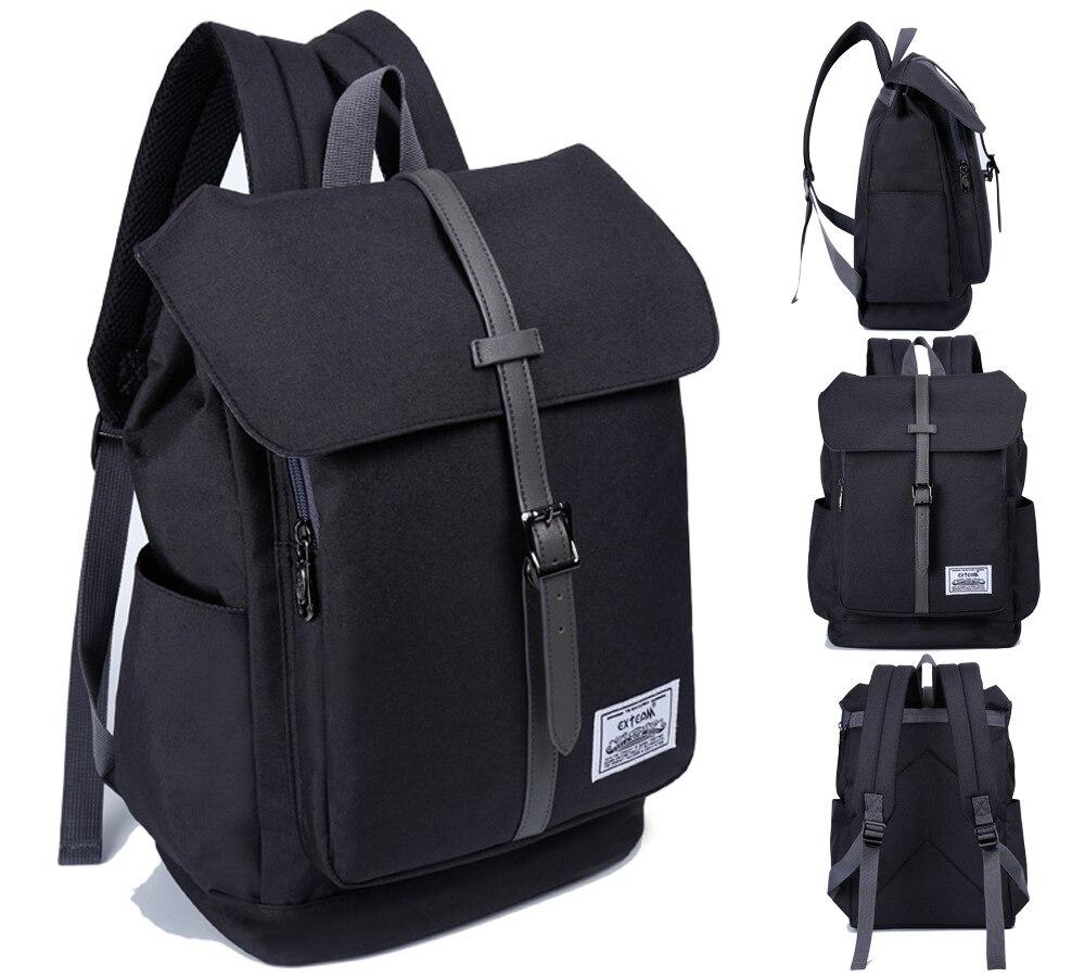 c98bd2f0ee2d 14 15 15.6 Inch Black Nylon Computer Laptop Notebook Backpack Bags Case  School Backpack for Men