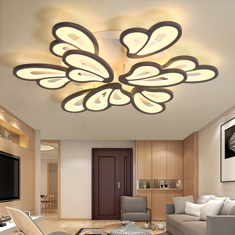 Modern Chandelier Led White Chandelier Lighting For Living Room Bedroom Dining Room Surface mounted kroonluchterModern Chandelier Led White Chandelier Lighting For Living Room Bedroom Dining Room Surface mounted kroonluchter