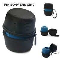 Bolsa de columna de altavoz Bluetooth negra para Sony SRS-XB10/Sony XB10/Sony SRS XB1 Nylon cremallera Estuche De Viaje al aire libre con correa de mano