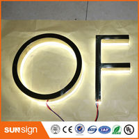 Aliexpress Advertising Rose Gold Metal Backlit Led Letters