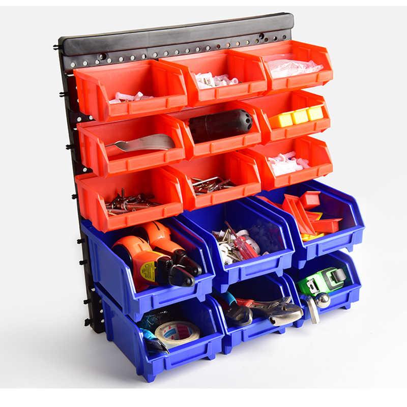 boite de rangement murale de pieces d outils rayonnage d unite de garage boite a outils en plastique outils de vis boite d organisation de rangement