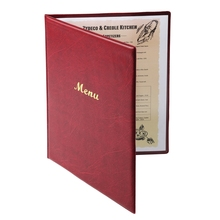 MENUSEE ПВХ A4 A5 размер бордовый классический держатель для меню ресторана показывает 2 страницы