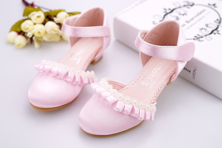 Eleven story baby Girls pearls leather shoes, kids 2018 SUMMER boutique wear,1-8 yrs child, retail, 1AG804S-04R