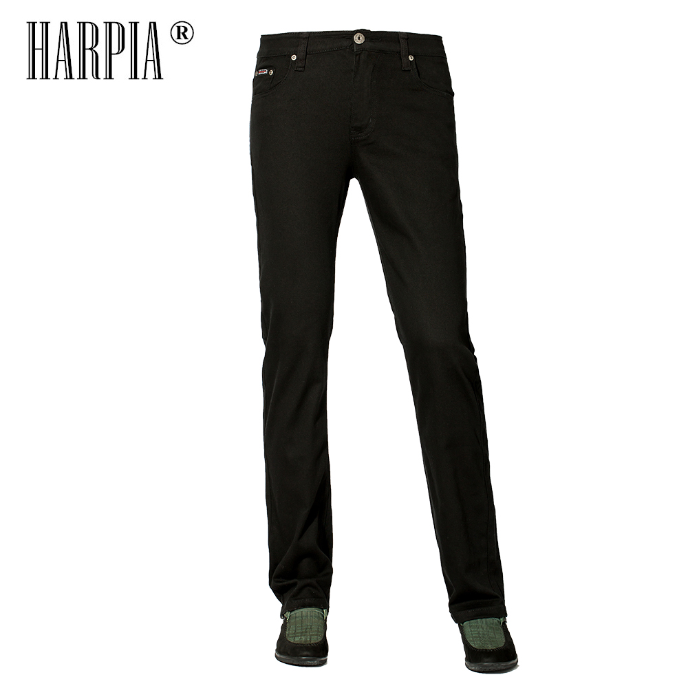 Harpia Men Classic Casual Pants Summer New Fashion Pure Color Slim Long Pants Straight Male Big Size Business Cotton Trousers