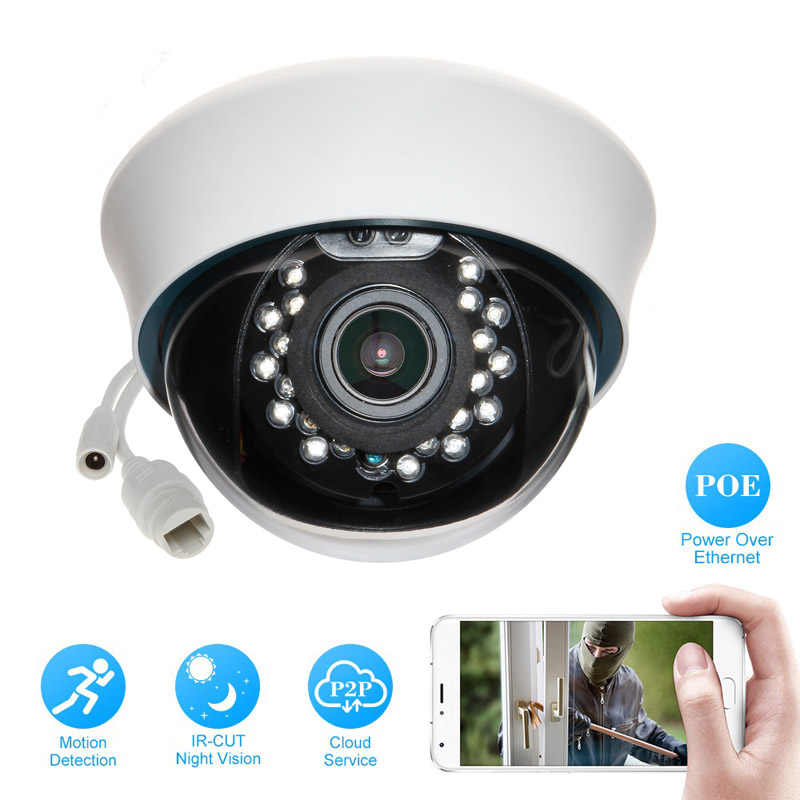 HD IP Camera 720P 1080P Indoor Dome Cam IR Lens 3.6mm 2MP IP CCTV Security Camera Network Onvif P2P Android iPhone XMEye View 720p hd ip camera poe onvif 3 6mm lens ir cctv security surveillance camera 1 0mp network dome cameras xmeye app xmeye view