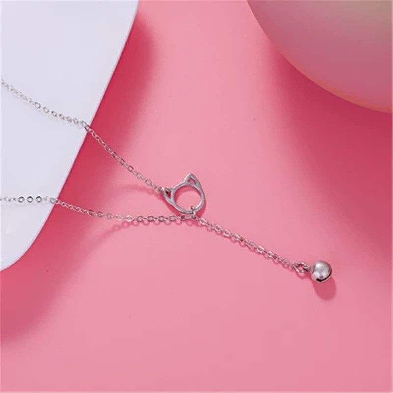 925 Sterling silver Pendant necklace The bell The hollow circle Women 39 s fashion jewelry wholesale Holiday gifts in Choker Necklaces from Jewelry amp Accessories