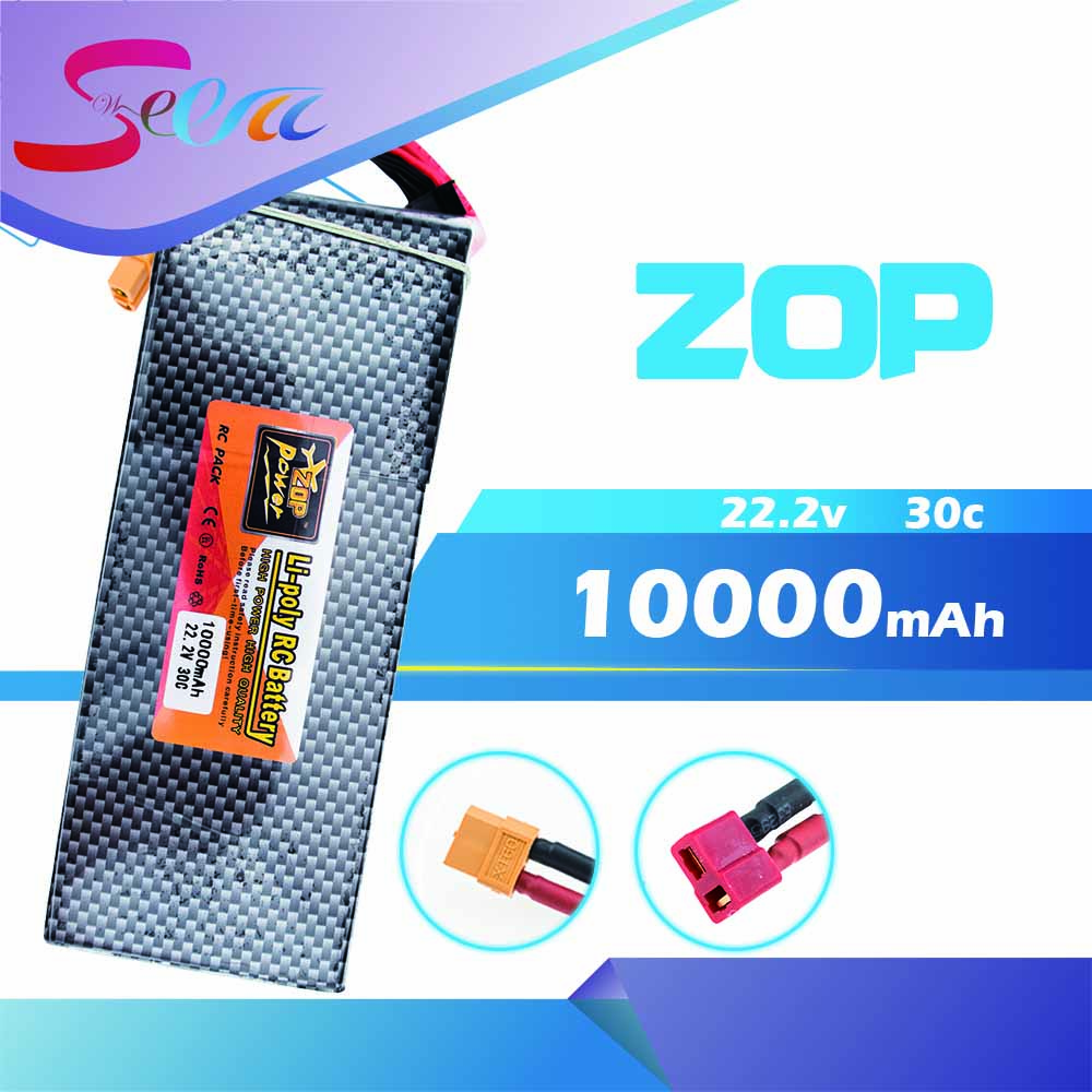 22.2V 6s ZOP Lipo battery 10000mAh 30C max 35C Xpower XT60 T plug for rc drone Helicopter Airplane parts for dji phantom s900 s1000 rc quadcopter battery 22 2v 10000mah 6s 30c xt60 plug li polymer lipo battery fpv parts bateria