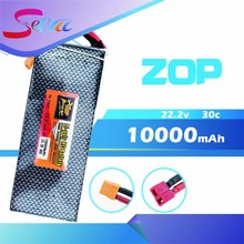 22.2V 6s ZOP Lipo battery 10000mAh 30C max 35C Xpower XT60 T plug for rc drone Helicopter Airplane parts