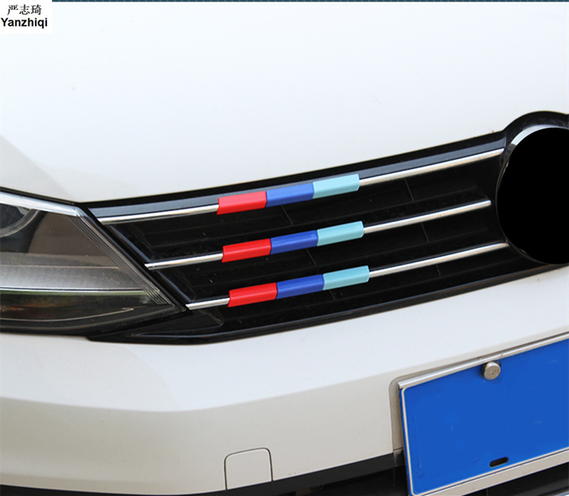 Free Shipping ABS 3 colors Car Front Grille Reflective for Volkswagen 2012-2018 VW JETTA 6 MK6 grille