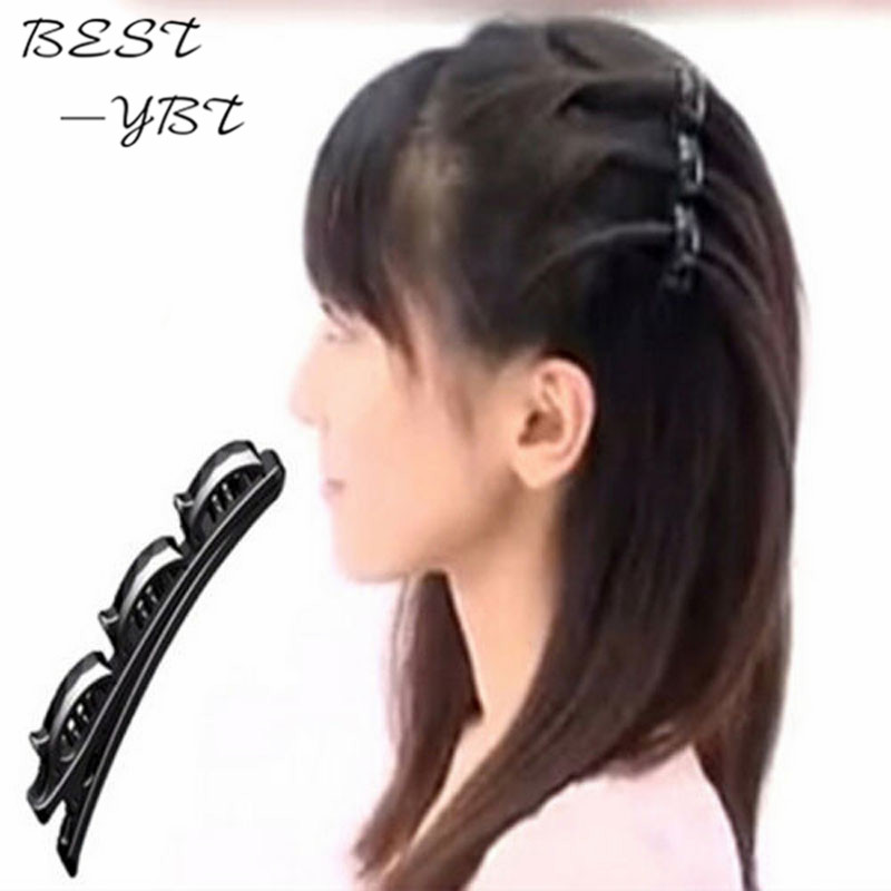 New Fashion Girls Women Double Hair Pin Clips Barrette Comb Hairpin Disk Gifts   Headwear   Hair Accessories Women Jewelry