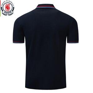 Image 2 - Fredd מרשל 2019 חדש חולצת פולו גברים רקמת מותג Polos Homme קצר שרוול עסקי מזדמן מוצק צבע Mens פולו חולצה 040