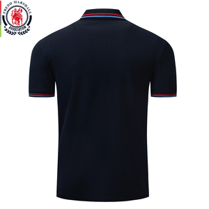 Image 2 - Fredd Marshall 2019 Nieuwe Polo Shirt Mannen Borduren Merk Polo Homme Korte Mouw Business Casual Effen Kleur Heren Polo Shirt 040