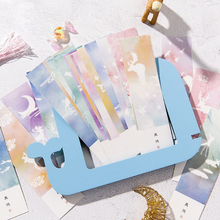 30pcs/box kawaii Student Bookmarks Creative life dream watercolor DIY gift blessing card Stationery Gift School Supply