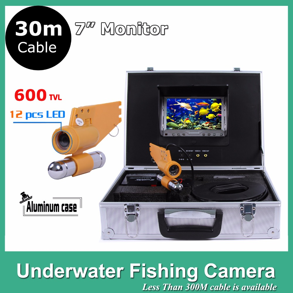 7 TFT LCD Monitor fish finder 12pcs LED Light 600TVL camera Underwater 30M Endoscope Inspection Camera 8 4inch 8 4 non touch industrial control lcd monitor vga interface white open frame metal shell tft type 4 3 800 600